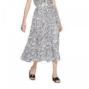 NWT Who What Wear Women's Skirt Zebra Print 10